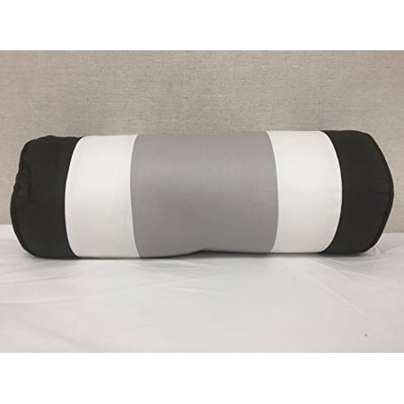 Bed Bath & Beyond Striped Bolster (Gray, Brown, White), 18