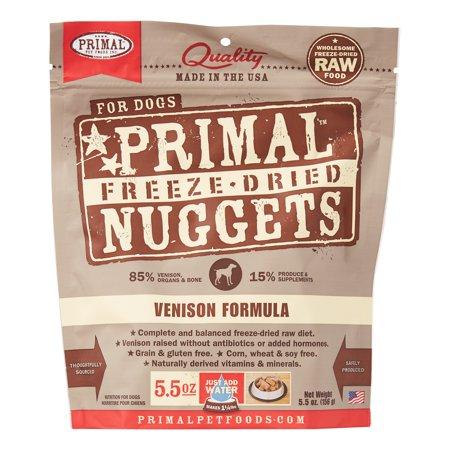 Primal Pet Foods Nuggets Grain-Free Venison Formula Freeze Dried Dog Food, 5.5 oz