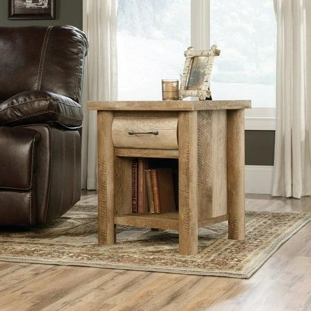 Sauder Boone Mountain Side Table Craftsman Oak Finish