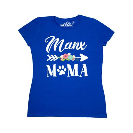 Manx Mama with Flowers and Arrow Women's T-Shirt