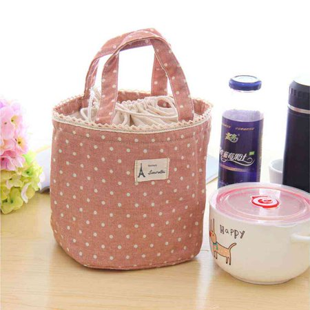 Super and Lovely Sweet Wave Point Tote Lunch Bag Portable