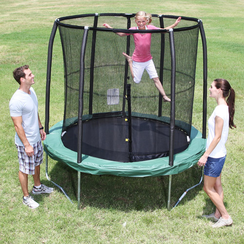 "JumpPod Elite 7.5"" Round Trampoline with Safety Enclosure Combo"