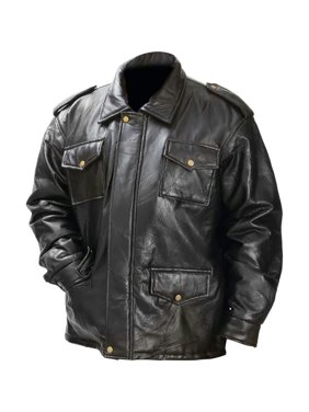 a0642a0c26cf Product Image Giovanni Navarre® Italian Stone Design Genuine Leather Field  Jacket