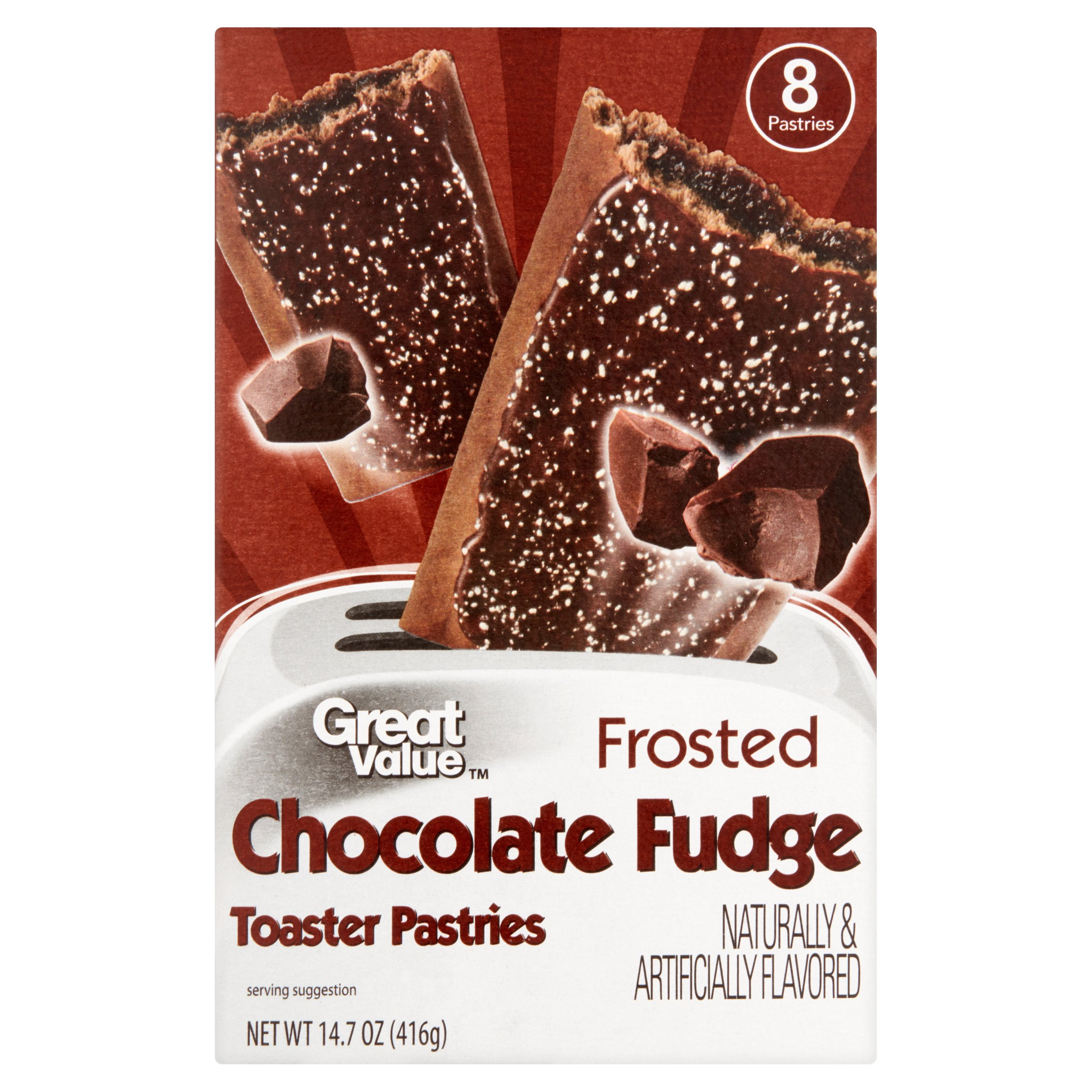 Great Value Frosted Toaster Pastries, Chocolate Fudge, 8 Count by Wal-Mart Stores, Inc.
