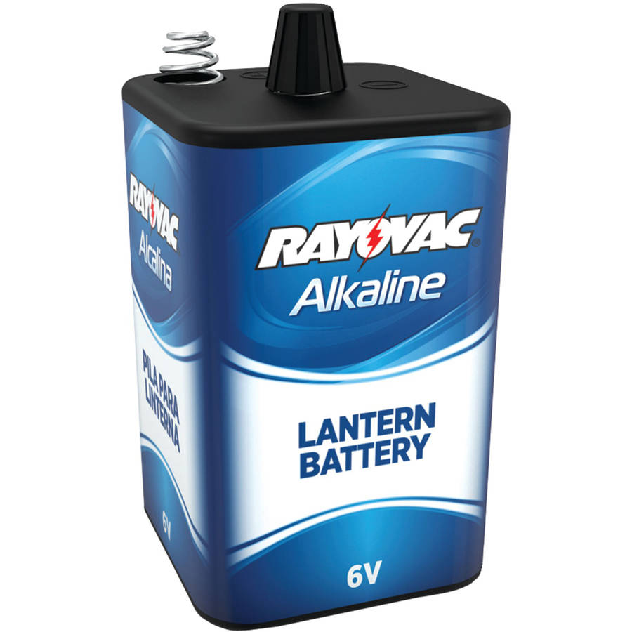 Rayovac 806 6V, 4-Alkaline, D-Cell-Equivalent Lantern Battery with Spring Terminals