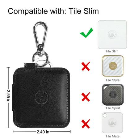 Fintie Coque de protection housse pour carreau mince Item Tracker Phone Finder, Noir - image 5 de 7