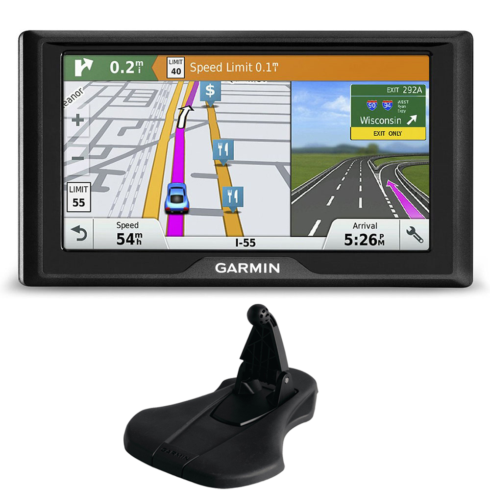 Garmin Drive 60LMT GPS Navigator (US Only) Friction Mount Bundle includes Garmin Drive 60LMT and Portable Friction Mount (Flexible Style)