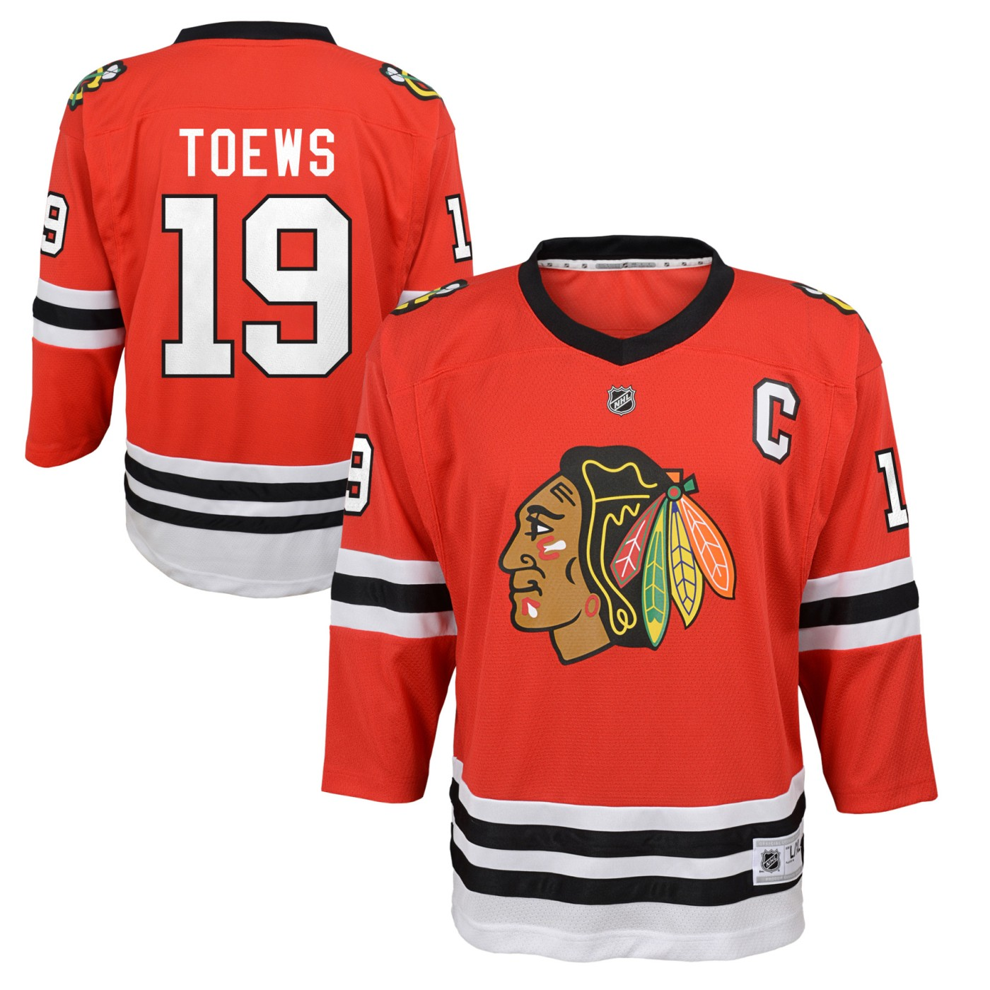 Jonathan Toews Chicago Blackhawks Youth NHL Red Replica Hockey Jersey by Outerstuff