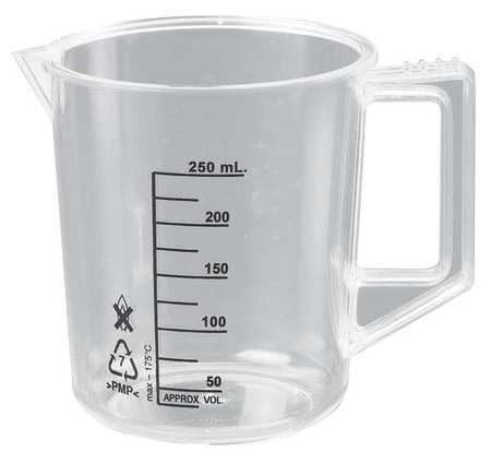 Beaker with Handle,250mL,Poly,PK6
