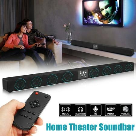 Long 60W 5.1 Channel Home Theater 3D Surround Sound HIFI Remote Wireless h Stereo Soundbar 8 Speaker