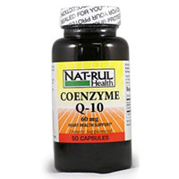 Natrul Health Coenzyme Q-10 Heart Health Support Dietary Supplement 60Mg Capsules - 50 Ea