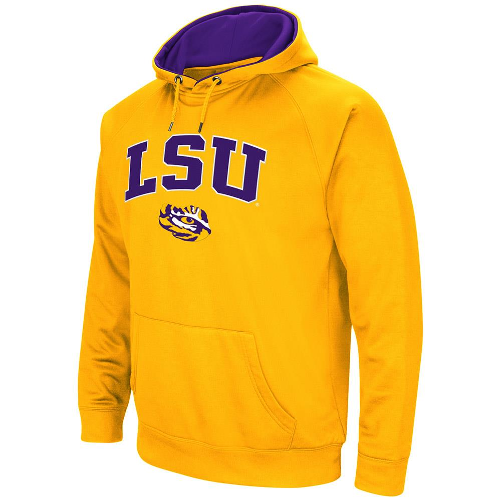 Mens LSU Tigers Fleece Pull-over Hoodie by Colosseum