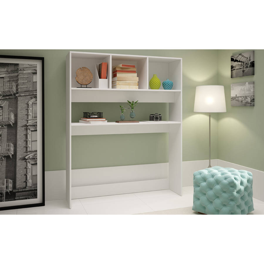 Image of Manhattan Comfort Accentuations Aosta Display Desk with 4 Shelves
