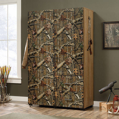 Sauder Flat Creek Wardrobe/Storage Cabinet, Mossy Oak Break-Up Infinity Pattern