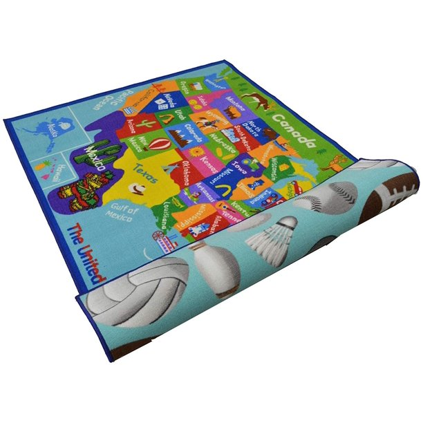 Baby Play Mat 5x7 Reversible Kids Rugs