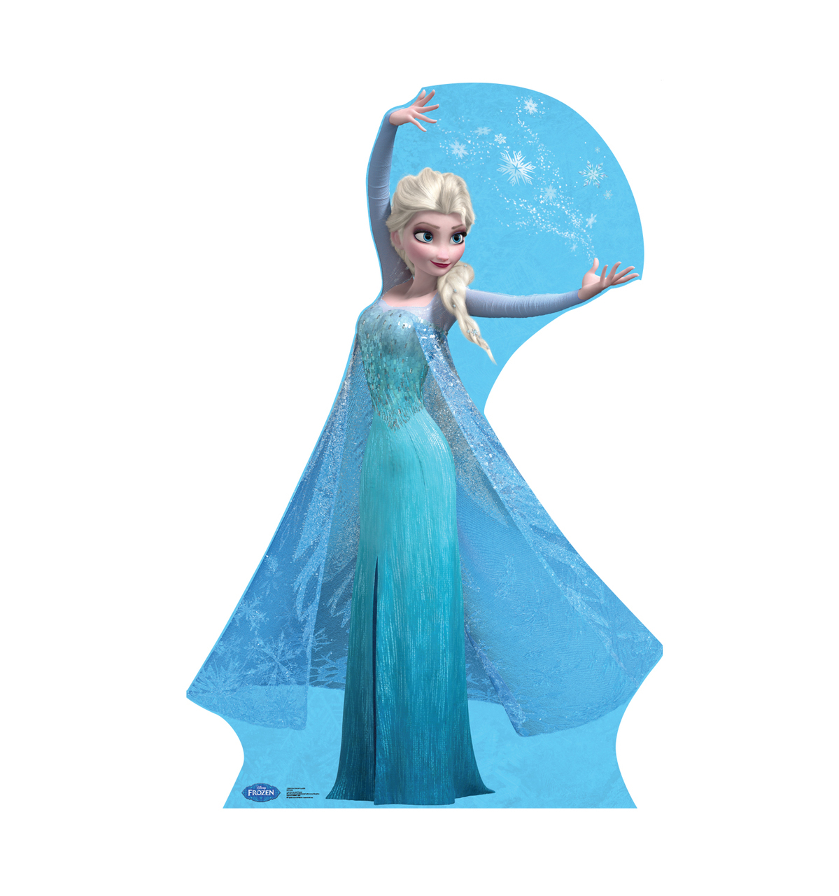"Disney Frozen Snow Queen Elsa Life Size Cutout Stand Large Cardboard Cutout Party Prop Decor Birthday party Supplies, Disney's The Princess and the Frog Birthday decoration Size: 70"" x 32"""