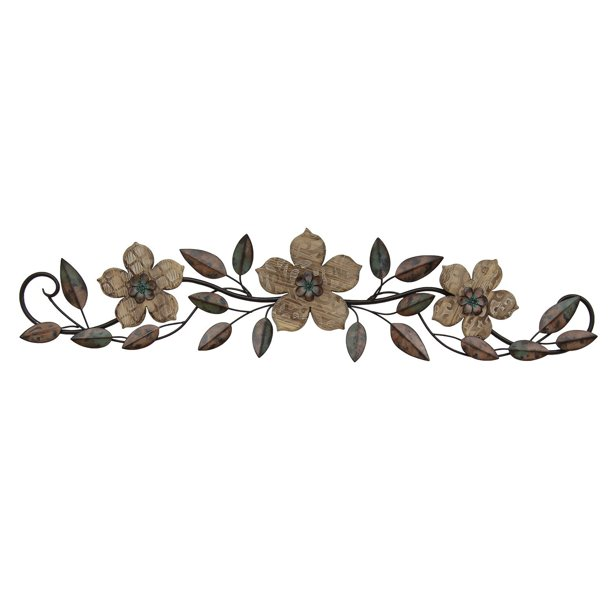 Stratton Home Decor Floral Patterned Wood Over The Door Wall Walmart Com
