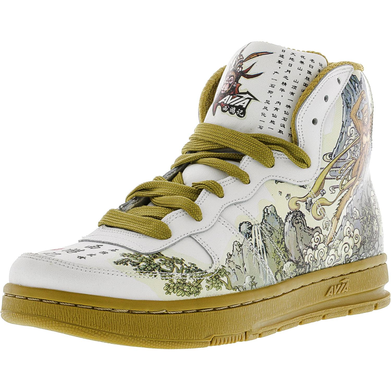 Avia Men's 1X10507001 White   Yellow Green High-Top Fashion Sneaker 7M by Avia