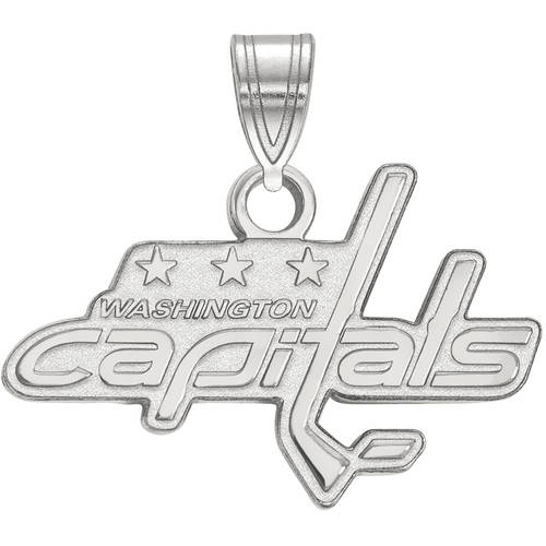 LogoArt NHL Washington Capitals 10kt White Gold Small Pendant