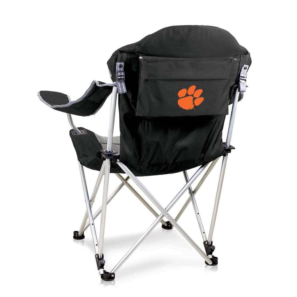 Clemson Reclining Camp Chair (Black)