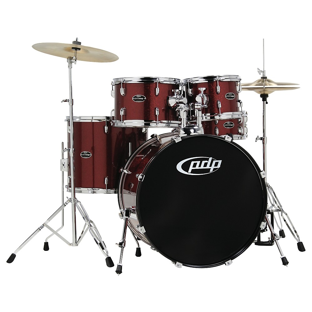 PDP CENTERstage 5-piece Drum Set with Hardware and Cymbals Ruby