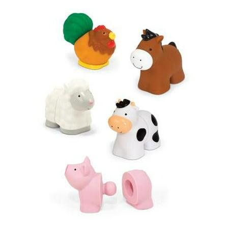 Melissa And Doug Geometric Stacker (Melissa & Doug Pop Blocs Farm Animals Educational Baby Toy - 10 Linkable)