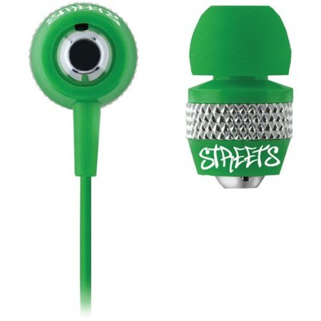 Coby Cve55grn Urban Style Noise-Isolation Stereo Earphones (Green)