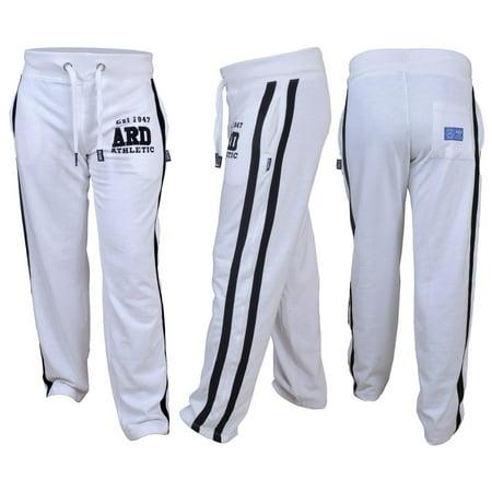 Men's Joggers Cotton Fleece Jogging Trousers Pants Track Suit Bottom MMA Boxing Small