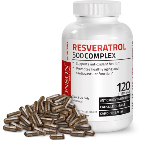 Resveratrol 500 Complex Red Wine Extract Natural Antioxidant Heart & Immune Health, 120