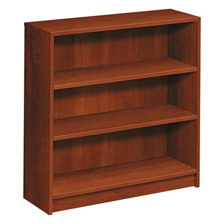 Hon 1870 Series Bookcase  Three Shelf  36W X 11 1 2D X 36 1 8H  Cognac
