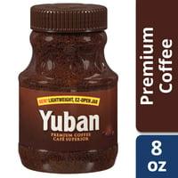 Yuban Instant Coffee, Caffeinated, 8 oz Jar