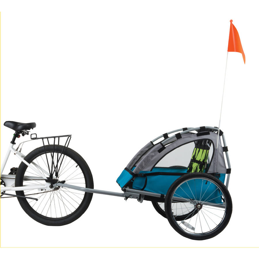 Bell Sports Smooth Sailer 2-Passenger Child Trailer, Blue