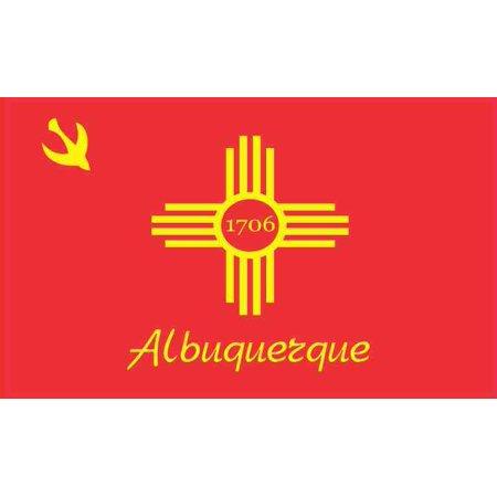5in x 3in Albuquerque New Mexico Flag Sticker Vinyl City Decal Stickers](Party City Albuquerque New Mexico)