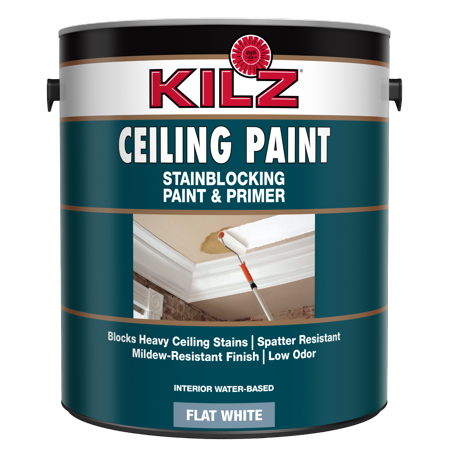 Kilz Stainblocking Interior Ceiling Paint And Primer In One Flat White