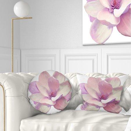 DESIGN ART Designart 'Cute Light Pink Magnolia Flower' Flowers Throw Pillowwork ()