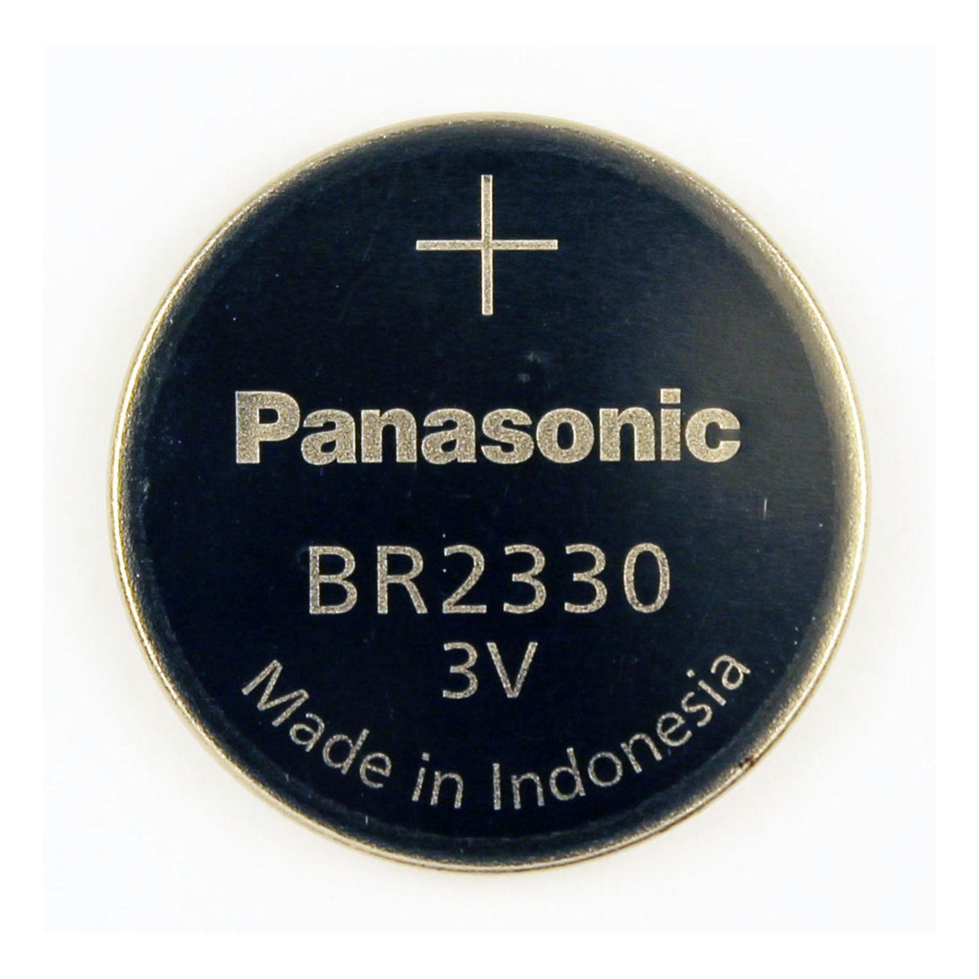 100-Pack BR2330 Panasonic 3 Volt Lithium Coin Cell Batteries - image 1 de 1