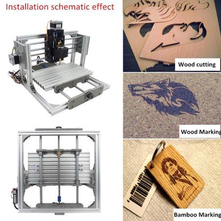 "3 Axis Mini PCB PVC CNC Milling laser equipment Machine Engraving DIY Router Kit With 2500mw Laser Engraver 9.4X6.7X2.6"""