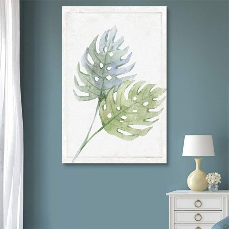 Hand Signed Giclee Canvas - wall26 - Canvas Wall Art - Hand Drawn Green Large Tree Leaf Series Artwork - Giclee Print Gallery Wrap Modern Home Decor Ready to Hang - 16x24 inches