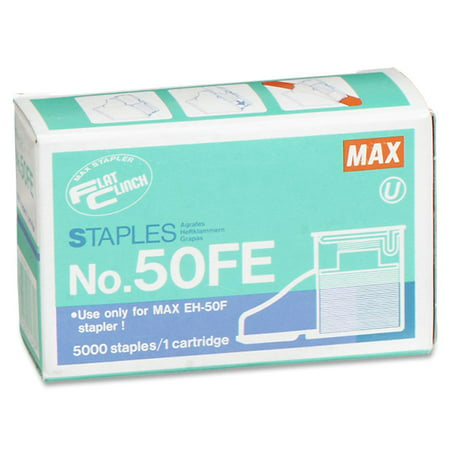 MAX, MXB50FE, Flat Clinch Heavy-Duty Stapler Cartridge, 5000 / Box 5000 Staple Cartridge