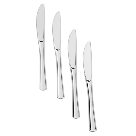 exquisite premium silver plastic silverware heavy duty cutlery