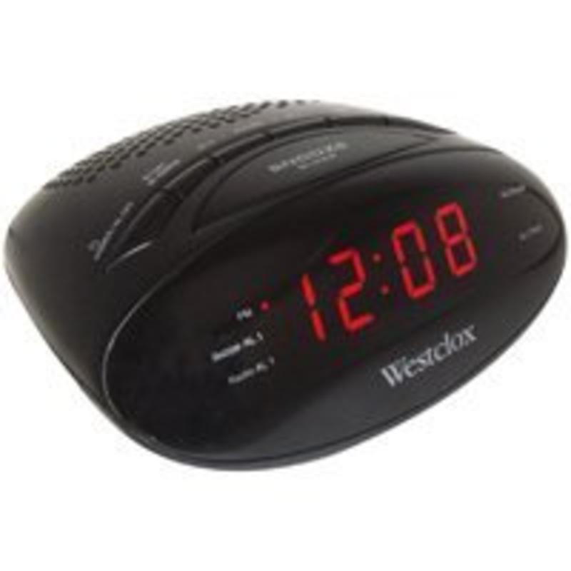 DIGITAL AM/FM CLOCK RADIO Westek Alarm Clocks 80502 844220006301