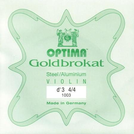 Lenzner Goldbrokat 4/4 Violin D String - Medium Gauge - Aluminum Wound