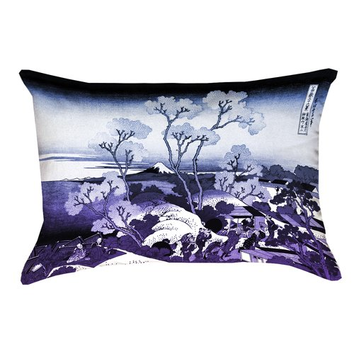 Bloomsbury Market Clair Fuji and Cherry Blossoms Suede Lumbar Pillow