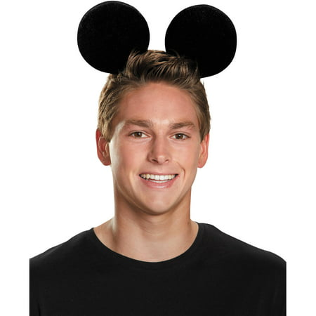 Deluxe Exclusive Mickey Mouse Ears Adult Halloween Accessory - Adult Mouse Ears
