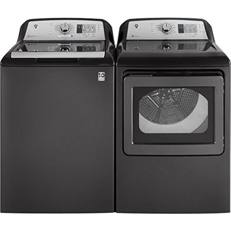 GE Grey Top Load Laundry Pair with GTW685BPLDG 27 Washer and GTD65GBPLDG27 Gas Dryer (Ge Washer And Dryer Top)