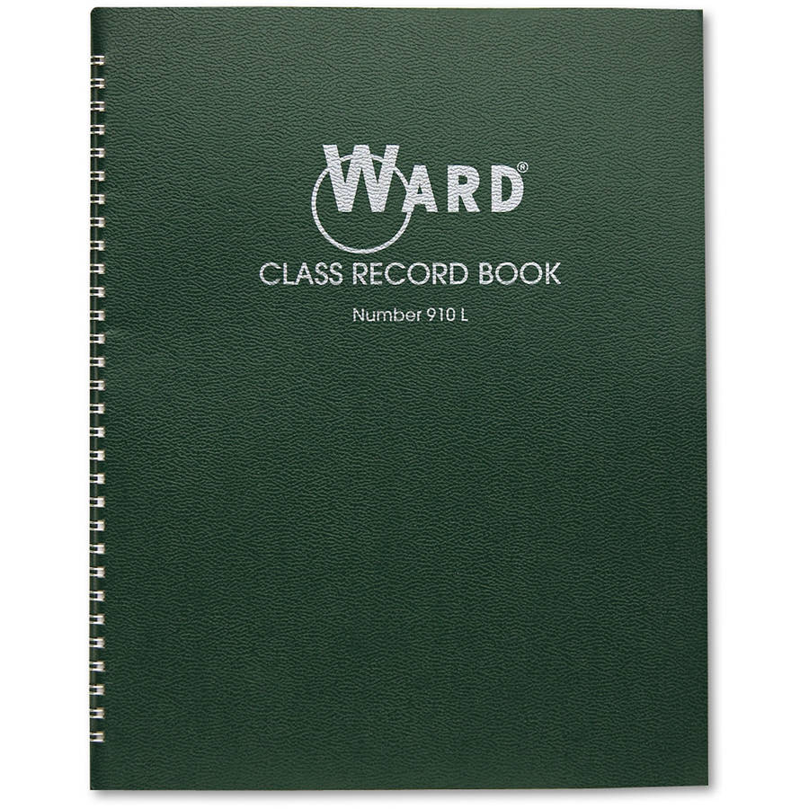 "Ward Class Record Book, 38 Students, 9-10 Week Grading, 11"" x 8-1/2"", Green"