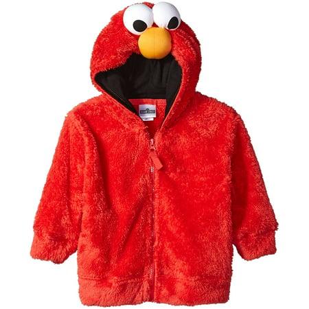 Sesame street elmo little boys costume hoodie, red 5 Years