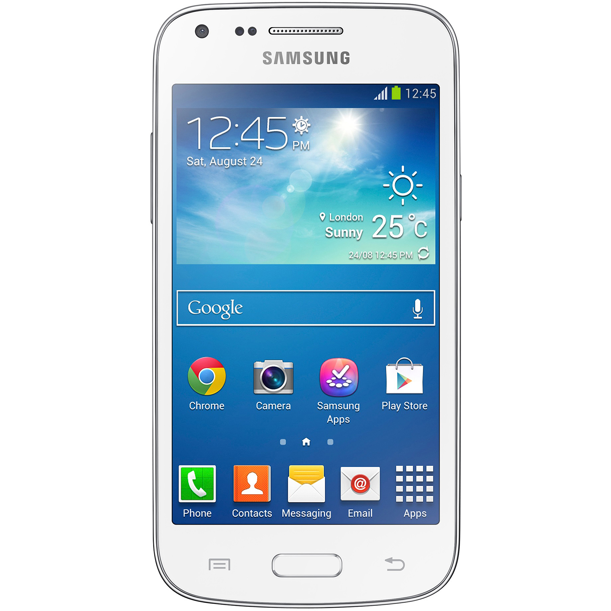 Samsung Galaxy Core Plus G3502L Dual-SIM Smartphone (Unlocked), White