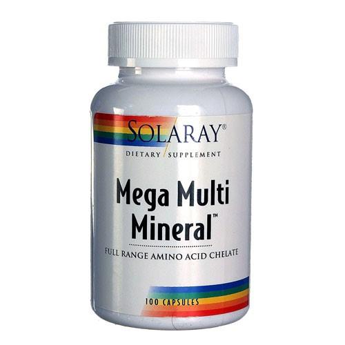 Solaray Mega Multi Mineral Vitamin Capsules, 100 Ct