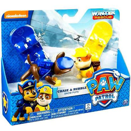 Winter Rescue Paw Patrol Chase   Rubble Snow Pups Figure